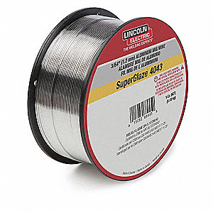 "1 lb. Aluminum Spool MIG Welding Wire with 0.035"" Diameter and ER5356 AWS Classification"