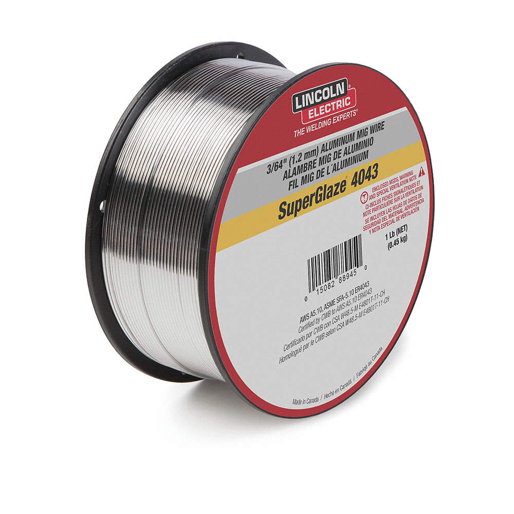 LINCOLN ELECTRIC 1 lb. Aluminum Spool MIG Welding Wire with 0.035 ...