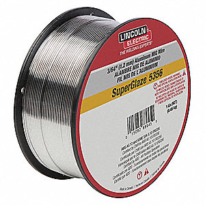 "1 lb. Aluminum Spool MIG Welding Wire with 0.045"" Diameter and ER5356 AWS Classification"