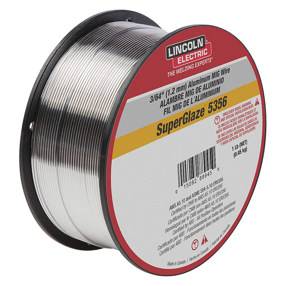 LINCOLN ELECTRIC 1 lb. Aluminum Spool MIG Welding Wire with 0.045 ...