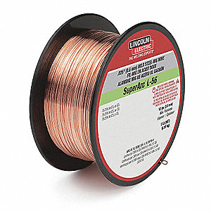 "2 lb. Carbon Steel Spool MIG Welding Wire with 0.025"" Diameter and ER70S-6 AWS Classification"