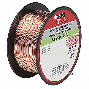 "2 lb. Carbon Steel Spool MIG Welding Wire with 0.030"" Diameter and ER70S-6 AWS Classification"