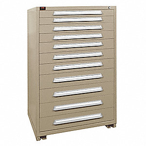 "Modular Drawer Cabinet, 59-1/4"" Overall Height, 36-3/8"" Overall Width, 28-1/4"" Overall Depth"