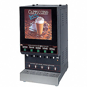 6 gal. 5 Flavor Hot Beverage Dispenser, Black