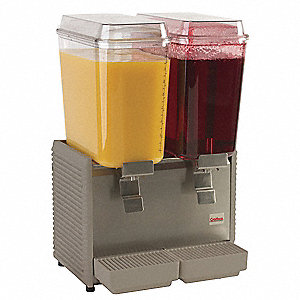 Cold Beverage Dispenser,5 Gal,2 Bowls