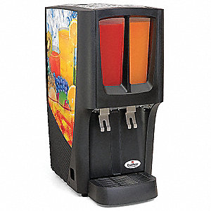 Cold Beverage Dispenser,Premix,2 Bowls