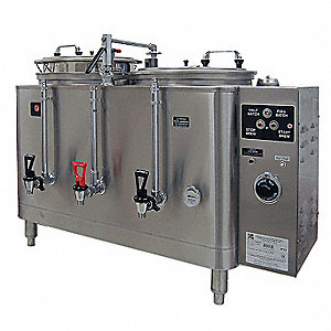 (2) 3 gal. Stainless Steel Twin Coffee Urn, Stainless Steel