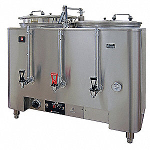 (2) 10 gal. Stainless Steel Twin Coffee Urn, Stainless Steel