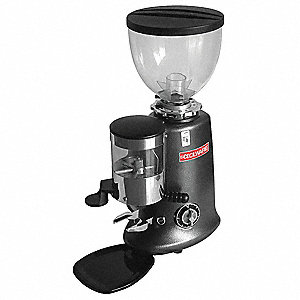 Espresso Grinder, Single Hopper, 0.6 lb., Black, Steel