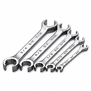 Flare Nut Wrench Set,5 Pieces,6 Pts