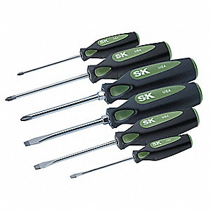 Assorted Screwdriver Set, Multicomponent, Number of Pieces: 6
