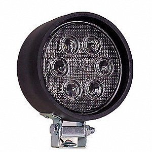 Work Light,Round,LED,12/24VDC,4 In Dia
