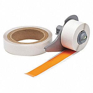 Clear/Orange Label Maker Labels and Tapes - Grainger