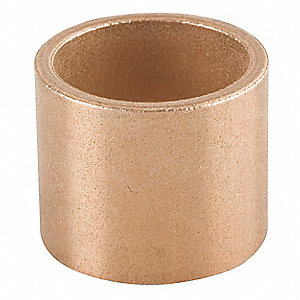 "Powdered Metal Bronze (SAE 841) Sleeve Bearing with 1"" Inside Dia. and 1-1/4"" Outside Dia."