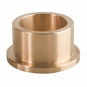 C93200 Cast Bronze (SAE660) Flanged Sleeve Bearing with 18mm Inside Dia. and 22mm Outside Dia.