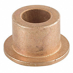 "Powdered Metal Bronze Sleeve Bearing with 1"" Inside Dia. and 1-1/4"" Outside Dia."
