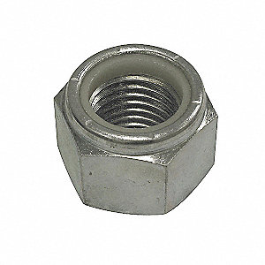 NUT LOCK NYLON HEX NC 3/8 PLTD