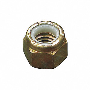 NUT LOCK NYLON HEX GR8 NC 1/2 PLTD