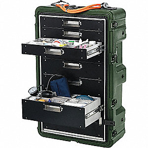 CASE MEDICAL SUPPLY W/8 DRAWERS-FIRE RET