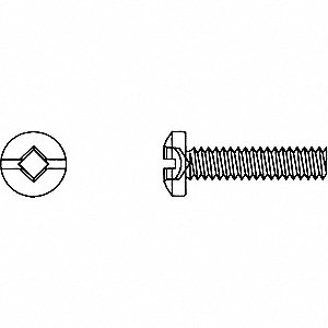SCREW MACH RD COMRBT12-24X3/4 1C/BX
