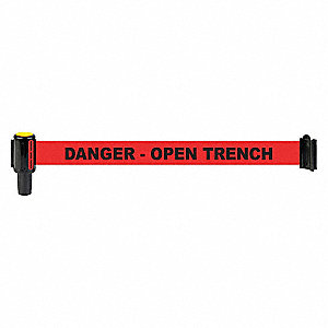 BANNER RED DANGER OPEN TRENCH