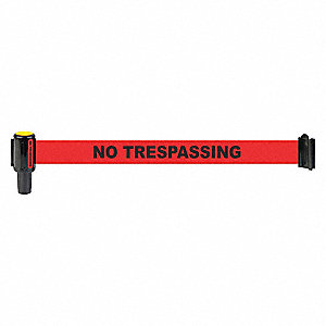 BANNER RED NO TRESPASSING