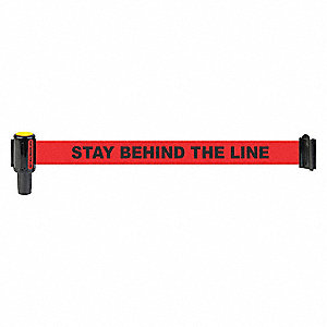 BANNER RED STAY BEHIND LINE
