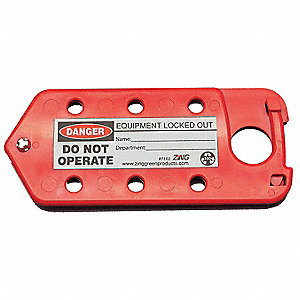 Labeled Lockout Hasp,Snap-On,6 Lock