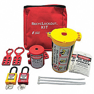 PortableLockoutKit,Filled,Electrical,Red