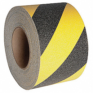 "60 ft. x 3"" Aluminum Oxide Antislip Tread, Black/Yellow"