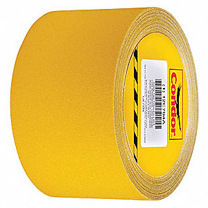 "60 ft. x 4"" Aluminum Oxide Antislip Tape, Yellow"