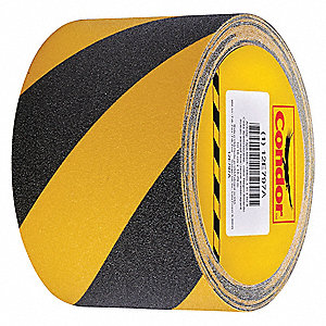 "Anti-Slip Tape,Black/Yellow,4""W, 60 Grit"