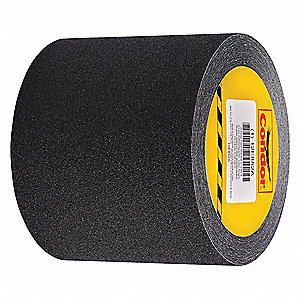 Solid Black Anti-Slip Tape, 2.0 ft. x 30.0 ft., 46 Grit Silicon Carbide, Rubber Adhesive, 1 EA