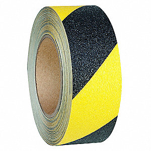 "54 ft. x 2"" Vinyl Antislip Tape, Black/Yellow"