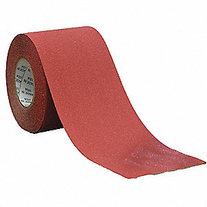 "Solid Red Anti-Slip Tape, 4"" x 60.0 ft., 46 Grit Aluminum Oxide, Acrylic Adhesive, 1 EA"