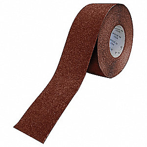 "Solid Red Anti-Slip Tape, 1"" x 60.0 ft., 36 Grit Aluminum Oxide, Acrylic Adhesive, 1 EA"