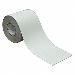 Anti-Slip Tape,White/Green,6 in x 60 ft.