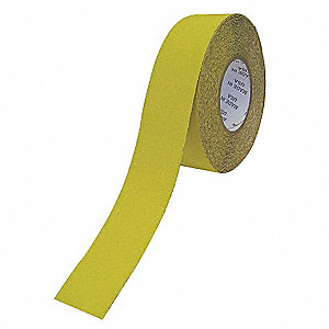 "Solid Yellow Anti-Slip Tape, 2"" x 60.0 ft., 46 Grit Aluminum Oxide, Acrylic Adhesive, 1 EA"