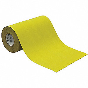 "Solid Yellow Anti-Slip Tape, 12"" x 60.0 ft., 46 Grit Aluminum Oxide, Acrylic Adhesive, 1 EA"