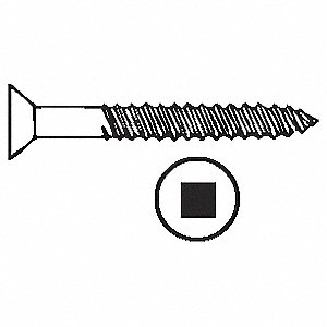 SCREW BRS FL SOC 9X1 1/2
