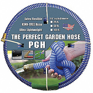 "50 ft. x 5/8"" dia. Water Hose, Polypropylene, 100 psi, Blue"
