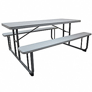 "Picnic Table,72"" W x60"" D,"