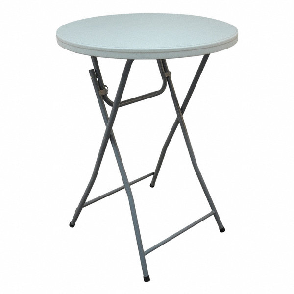 Grainger approved round folding cocktail table 44 height for Height of cocktail tables