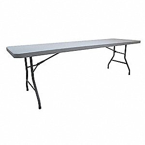Folding Table,96 in.x30 in.x30 in.,Gray