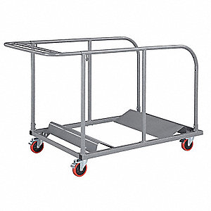 "64""L x 32-3/4""W x 40"" Round Table Dolly, 770 lb. Load Capacity"