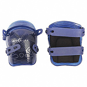 Non-marring 2-Strap Knee Pads, Blue