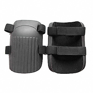 Non-marring 2-Strap Knee Pads, Gray/Black