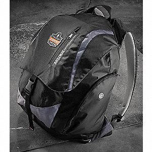 Backpack,18 x18-1/2 x11 In,5 Pockets,Blk