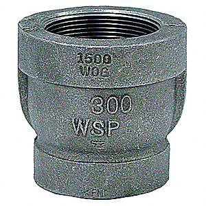 "Reducer Coupling, FNPT, 1-1/2"" x 1-1/4"" Pipe Size - Pipe Fitting"