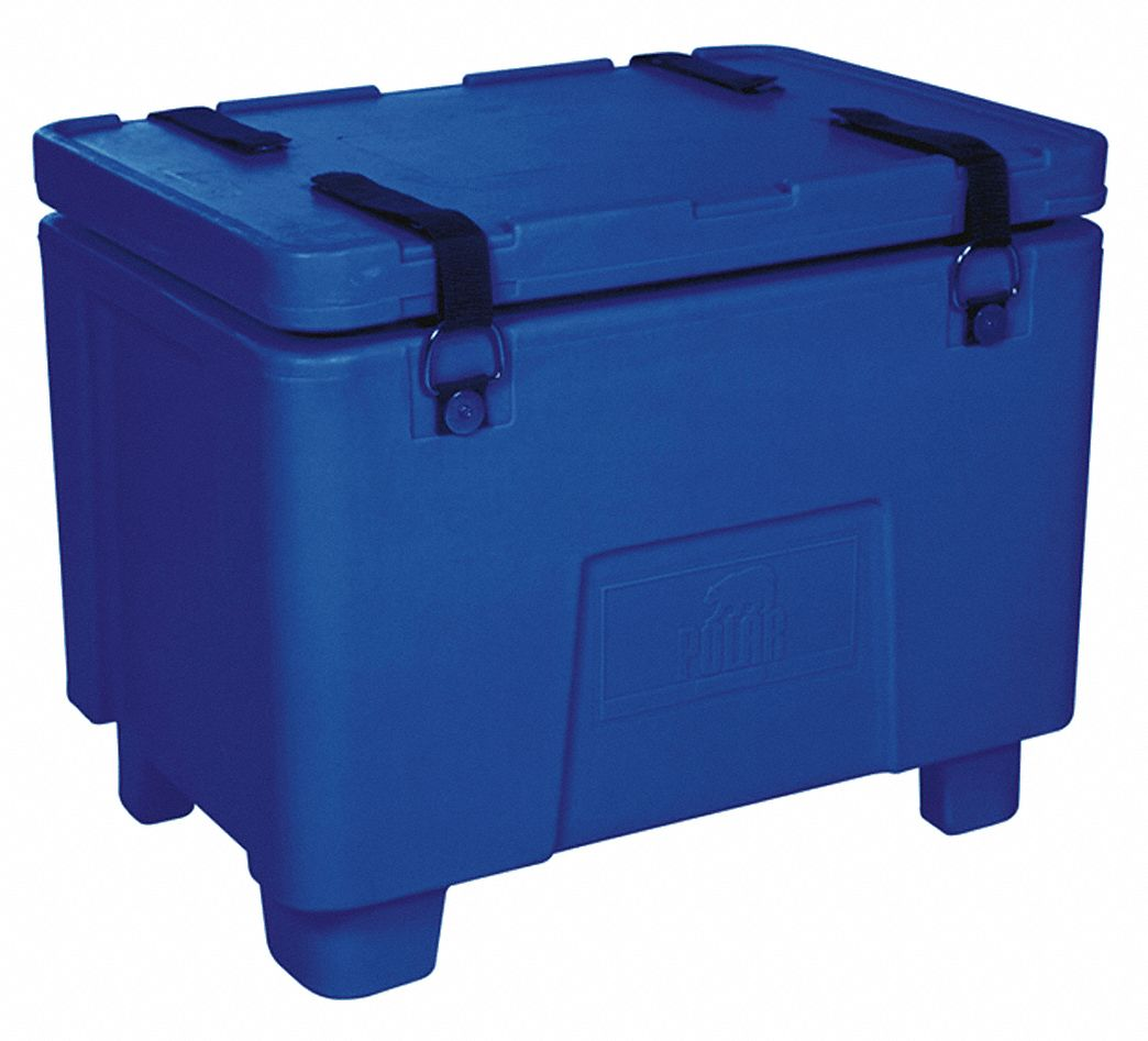 Dry Ice Transport Cooler, 2 cu ft, Blue Plastic